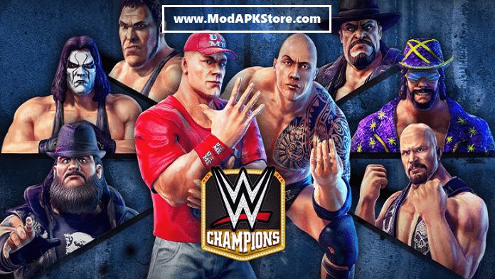 WWE Champions Free Puzzle RPG Mod APK Cover