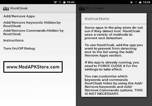 rootcloack screenshot 1