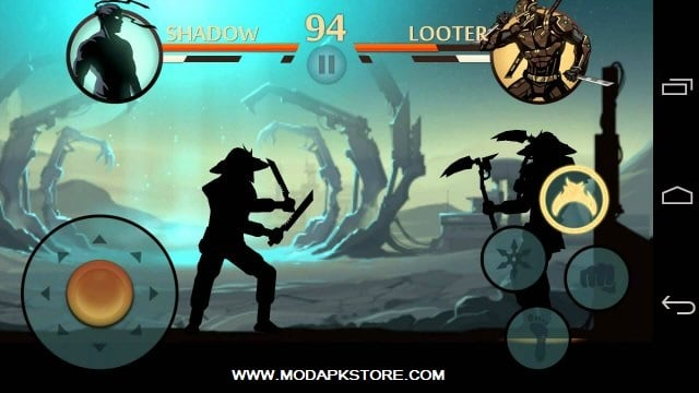 shadow fight 2 mod apk unlocked all weapons